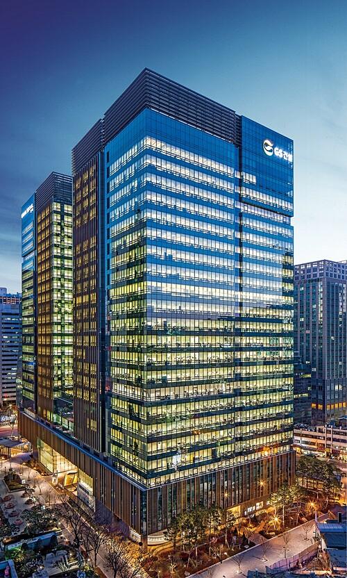 Toà nhà GS Tower - trụ sở chính của GS E&C tại Hàn Quốc.