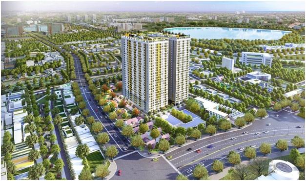 Dự án Bcons Plaza có mảng xanh rộng lớn