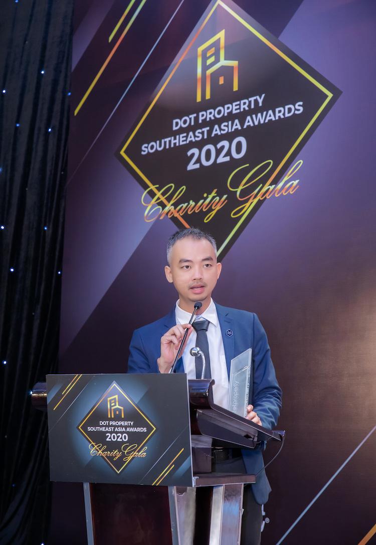 Đại diện Hoozing, CEO ông Lê Huỳnh Nhựt Hải phát biểu tại sự kiện.