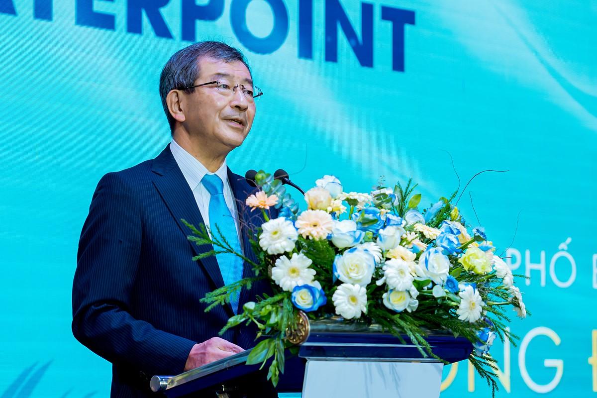 Tổng lãnh sự quán Nhật Bản tại TP HCM - ông Watanabe Nobuhiro chia sẻ tại sự kiện bàn giao sản phẩm dự án Waterpoint hôm 14/11. Ảnh: Nam Long.