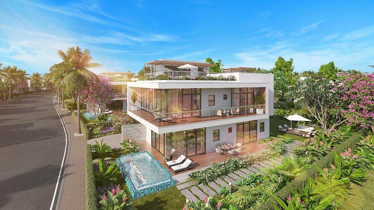 Dự án cung cấp 192 biệt thự biển cùng đặc quyền đẳng cấp cho giới thượng lưu. Ảnh phối cảnh: Rio Land.
