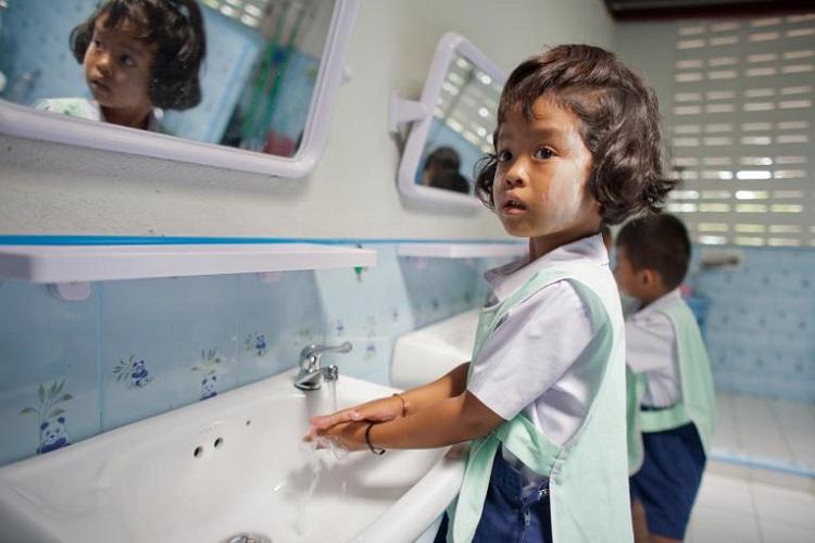 Grab kết hợp với UNICEF quyên góp cho trẻ em. Ảnh: UNICEF Thailand/Thomas.