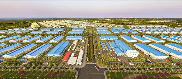 không gian xanh tại KCN Minh Hưng Sikico. Ảnh phối cảnh: