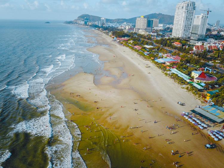 Khu đường ven biển Vũng Tàu.