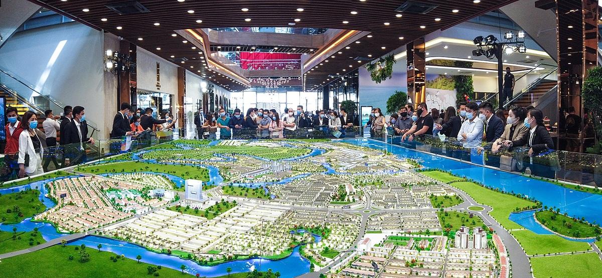 Khu đô thị sinh thái được quy hoạch bài bản và hoàn chỉnh tại các đô thị vệ tinh như Aqua City đang là lựa chọn của giới đầu tư và an cư. Ảnh: Novaland.