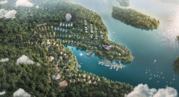 Parahills Resort nằm gọn trong lòng thung lũng Thung Nai.