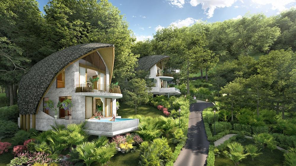 Biệt thự nghỉ dưỡng của Parahills sở hữu kiến trúc độc đáo.