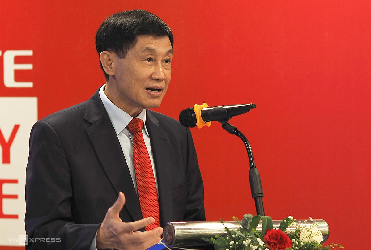 Ông Johnathan Hạnh Nguyễn tại sự kiện ở Tràng Tiền Plaza hôm 22/12. Ảnh: Anh Tú
