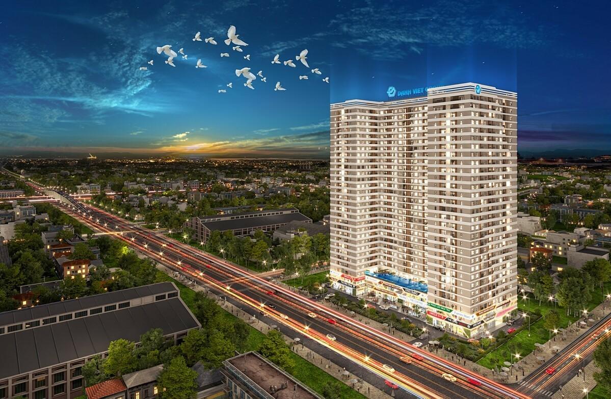 Icon Plaza gồm 2 tầng hầm, 29 tầng cao cung cấp 897 căn hộ với phương thức thanh toán 1% đến khi nhận nhà thu hút nhiều khách hàng trẻ quan tâm. Ảnh phối cảnh: DVG.