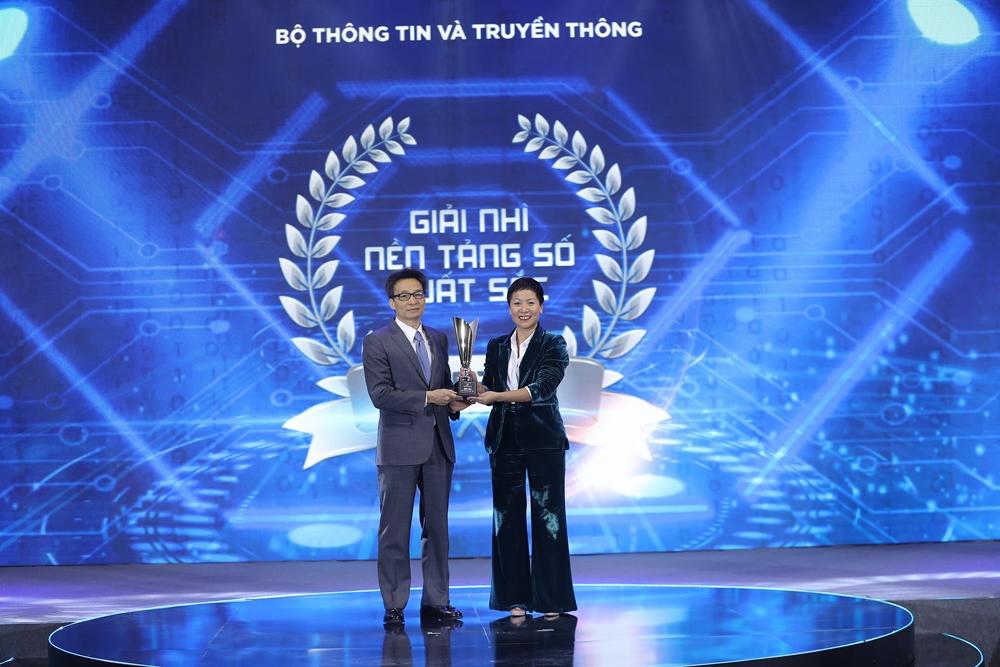 Be Group nhận giải nhì trong hạng mục nền tảng số xuất sắc.