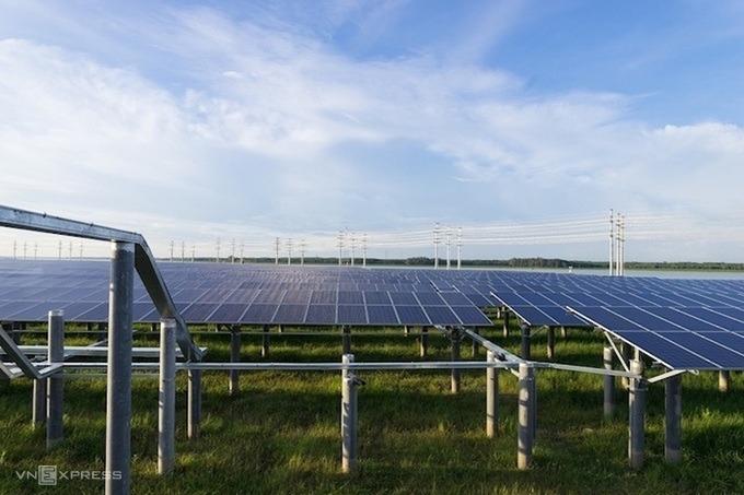 Một dự án điện mặt trời ở Tây Ninh. Ảnh: Anh Minh.