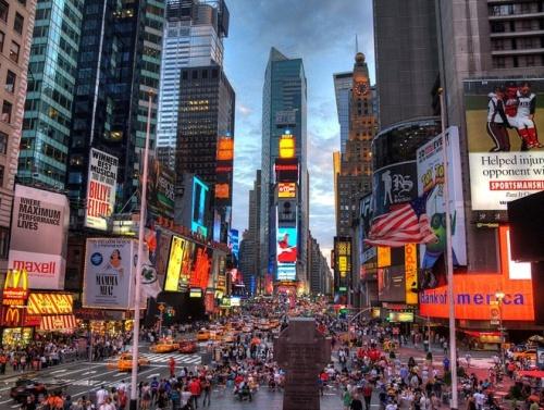 Quảng trường Thời đại ở thành phố New York, Mỹ. Ảnh:Wikipedia.