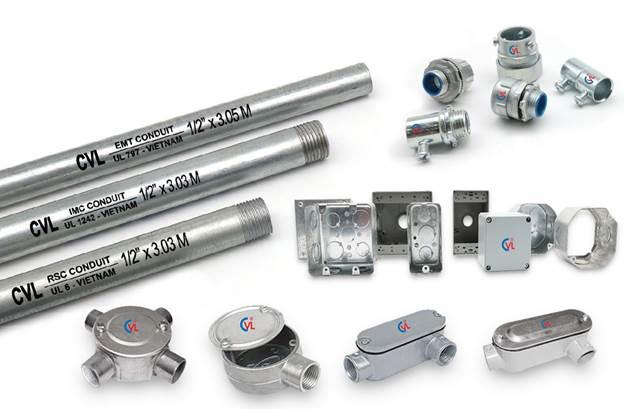 Ống thép luồn dây điện và phụ kiện CVL.