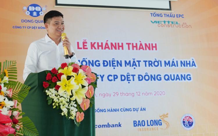 Ông Nguyễn Quốc Bảo - Phó TGĐ Công ty CP Dệt Đông Quang.