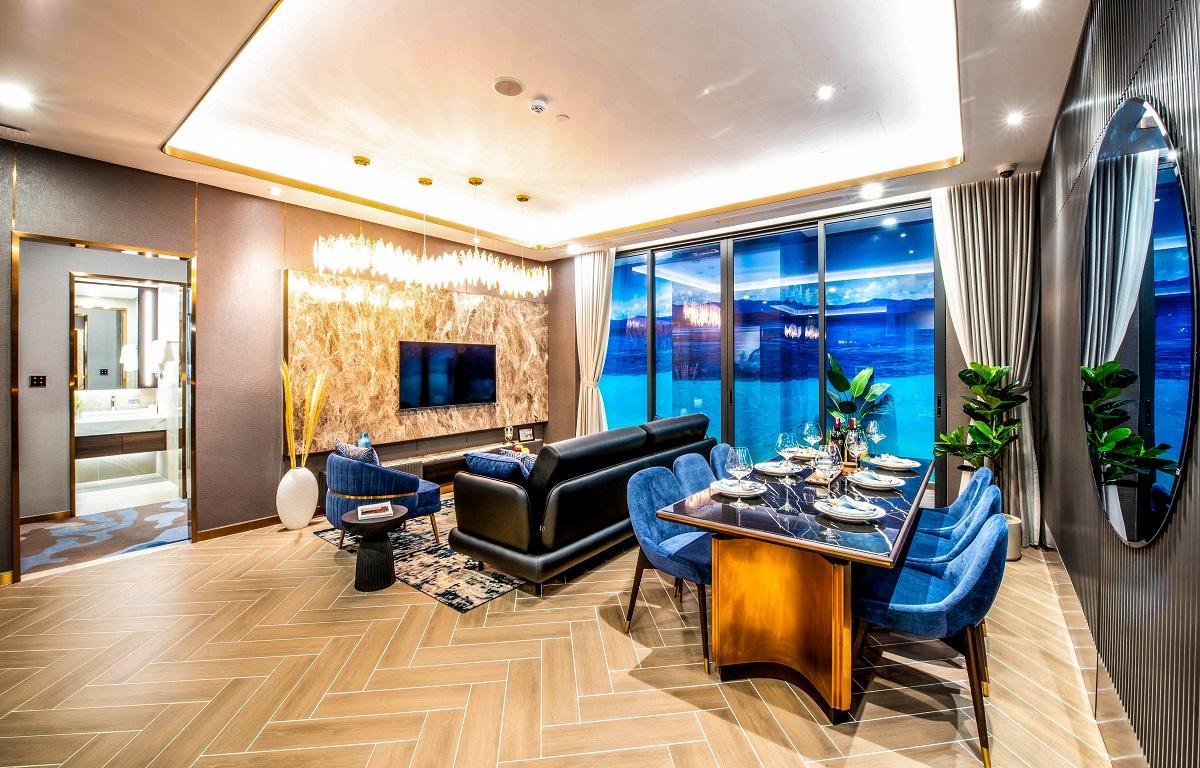 Căn hộ mẫu ba phòng ngủ tại The Aston Luxury Residence. Ảnh: Tập đoàn Danh Khôi.