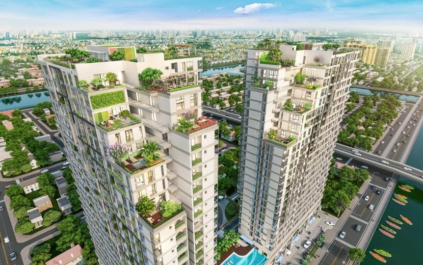 Dự án phức hợp thương mại và căn hộ D-Aqua đã thu hút nhiều thương hiệu dịch vụ ký kết các hợp đồng liên kết chiến lược thương hiệu. Ảnh phối cảnh: DHA Corporation.
