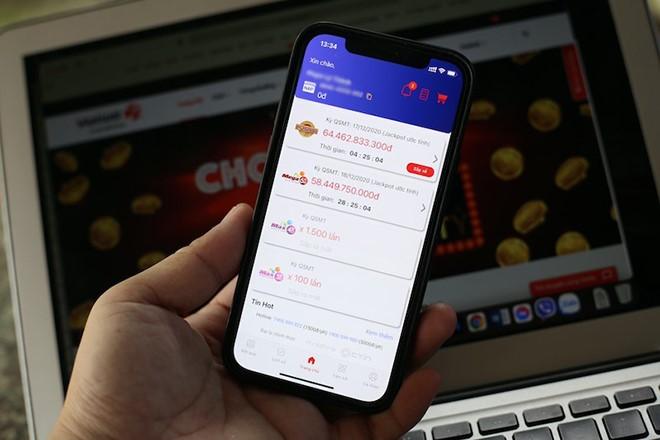 Từ 23/12, người chơi có thể mua sản phẩm xổ số tự chọn trên smartphone.