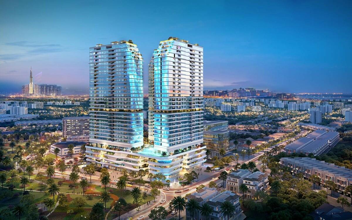 Dự án khu phức hợp thương mại - căn hộ cao cấp King Crown Infinity tọa lạc trên mặt tiền đường Võ Văn Ngân, phường Bình Thọ, Thủ Đức. Ảnh phối cảnh: BCG Land.