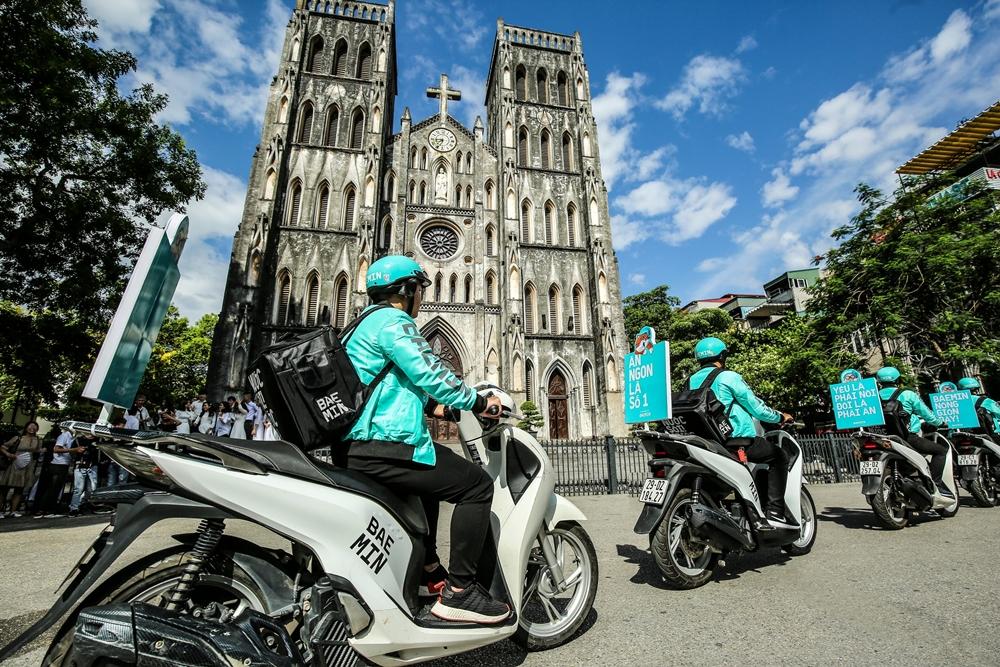 Tài xe Baemin hoạt động tại Hà Nội.