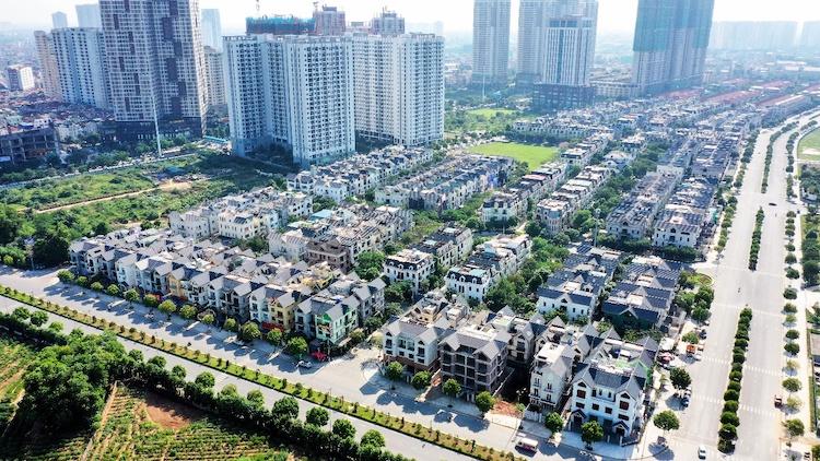 Một dự án bất động sản ở phía Tây Hà Nội.
