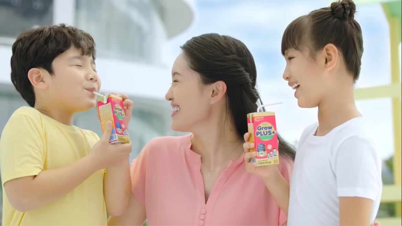 Nutifood GrowPLUS+, nhãn hiệu sữa trẻ em số một Việt Nam được 93,4% các bà mẹ Việt tin dùng. Ảnh: Nutifood.