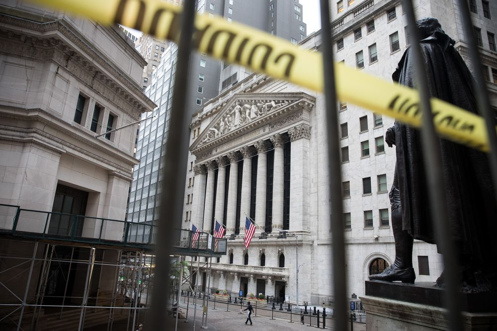 Sở giao dịch chứng khoán New York. Ảnh: Bloomberg/Michael Nagle.