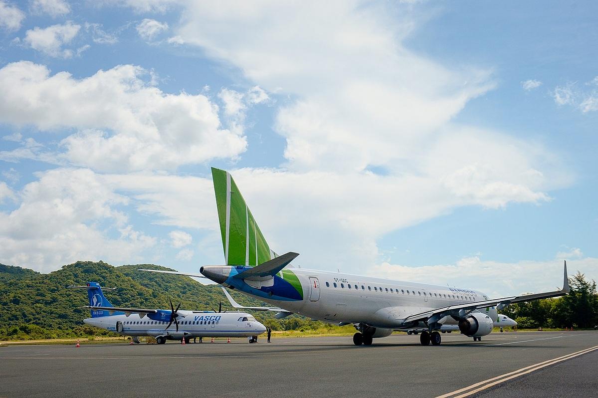 Máy bay Bamboo Airways tại Côn Đảo.