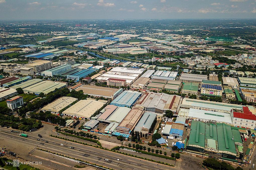 Khu công nghiệp Tân Tạo. Ảnh: Trần Quỳnh.