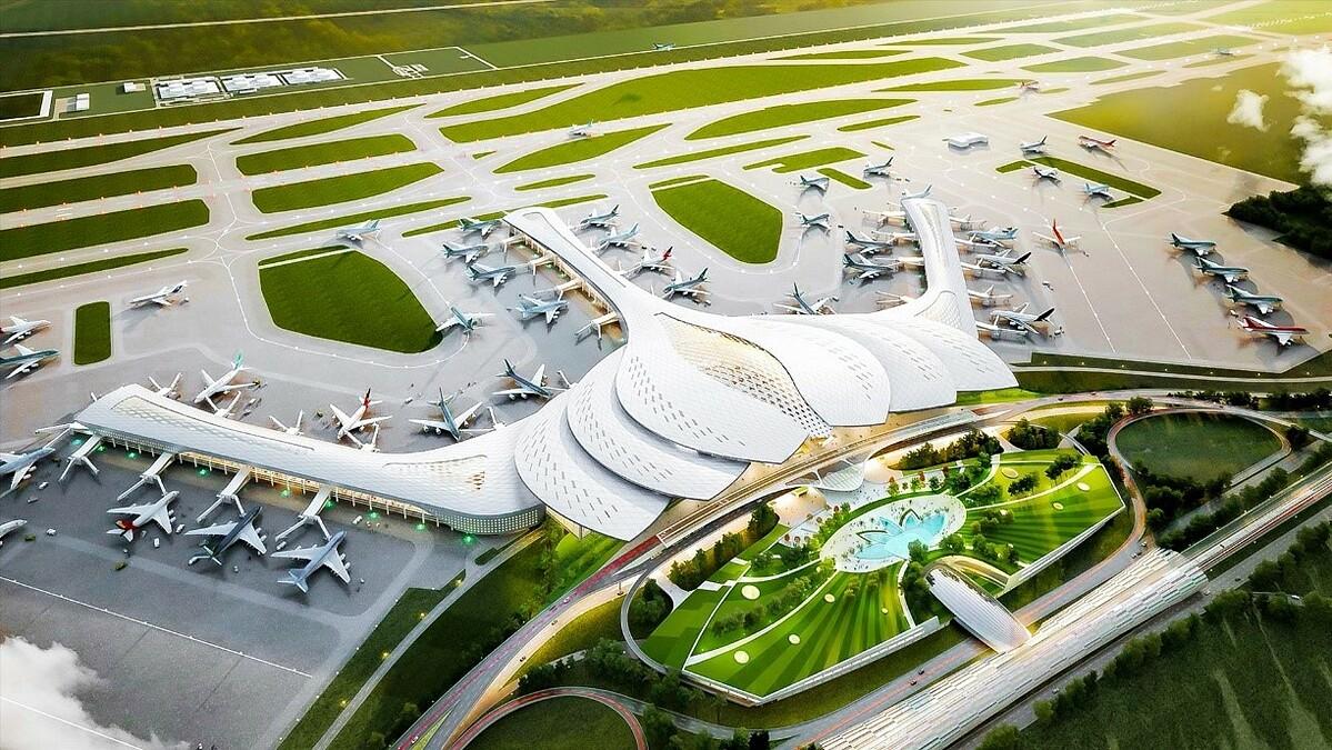 Từ đô thị đảo Phượng Hoàng, cư dân chỉ mất 20 phút để kết nối về sân bay Long Thành tương lai.