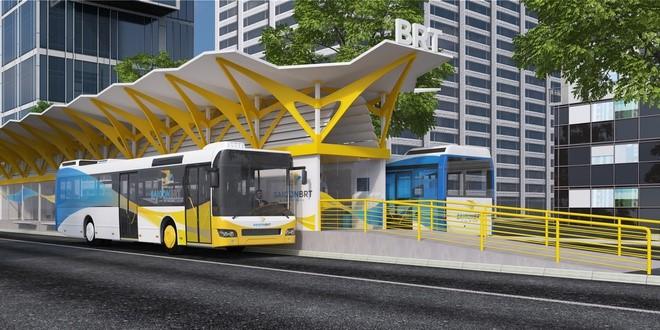 Dự án tuyến xe buýt nhanh BRT số 1 trị giá gần 3.300 tỷ đồng tại TP HCM. Ảnh phối cảnh: UCCI.