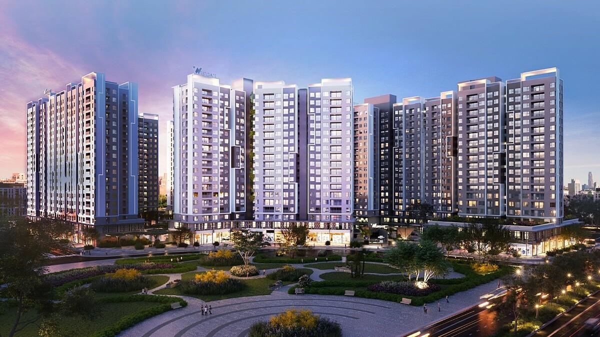 Westgate tọa lạc tại trung tâm hành chính Bình Chánh với quy mô gần 2.000 căn hộ. Ảnh phối cảnh: An Gia.