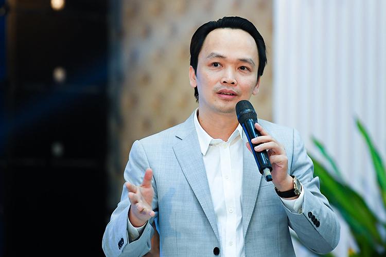 Ông Trịnh Văn Quyết, Chủ tịch FLC. Ảnh: Tuấn Cao.
