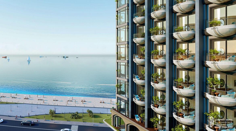 Căn hộ du lịch Oyster Gành Hào đang nhận sự quan tâm lớn tại thị trường bất động sản Bà Rịa - Vũng Tàu. Ảnh phối cảnh: Vietpearl.