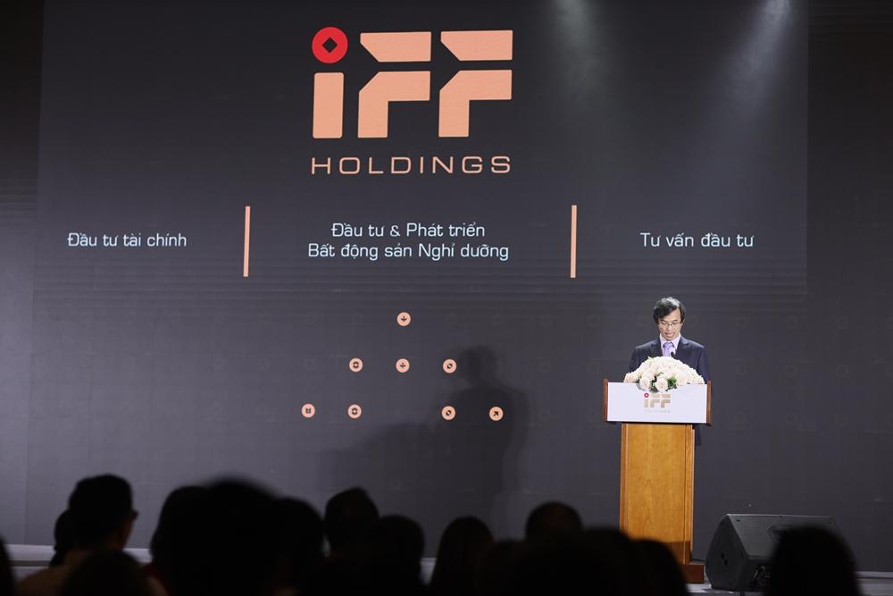 Đại diện IFF Holdings phát biểu tại sự kiện.