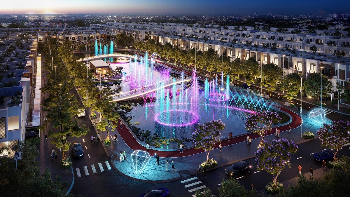 Phân khu The Ambi thuộc Stella Mega City đang thu hút sự quan tâm của nhà đầu tư. Ảnh phối cảnh: KITA Group.