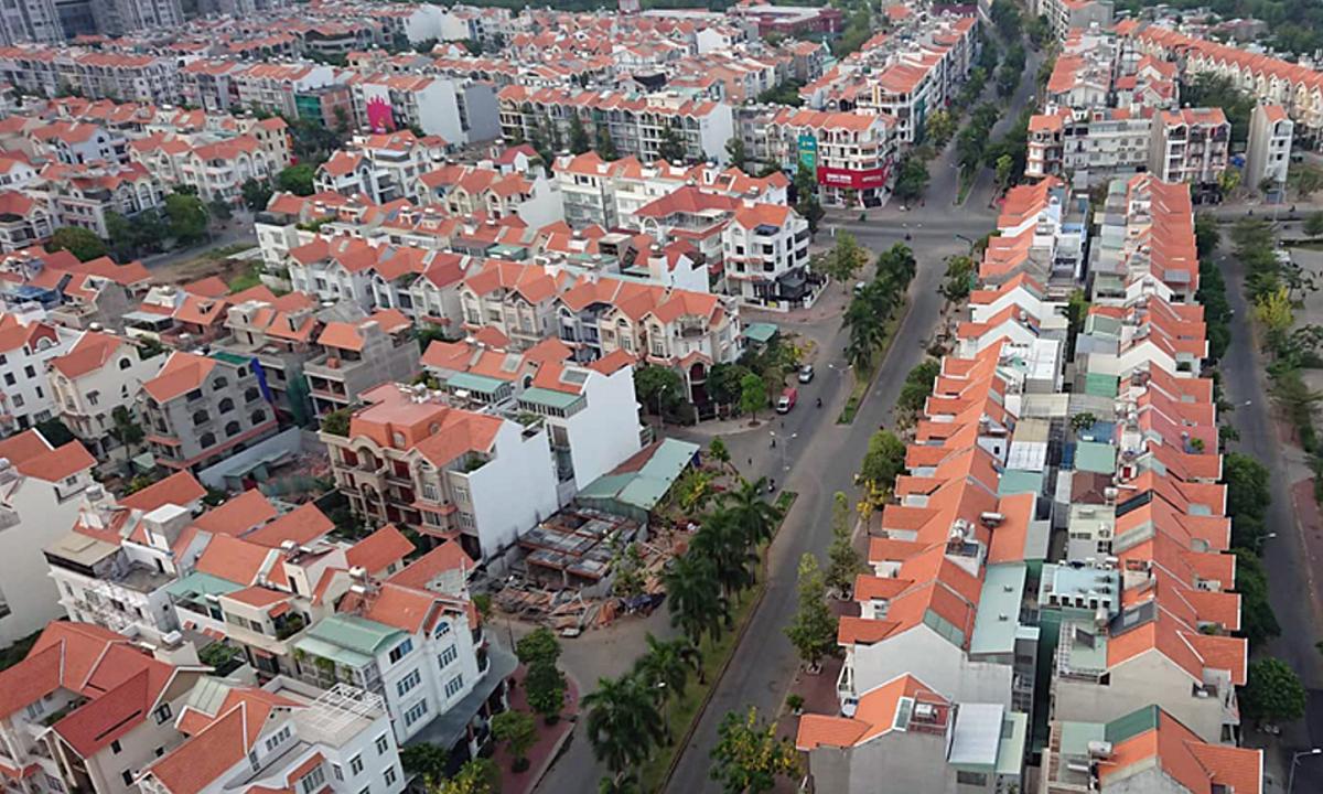 Thị trường nhà phố, biệt thự phía Nam TP HCM. Ảnh: Vũ Lê.