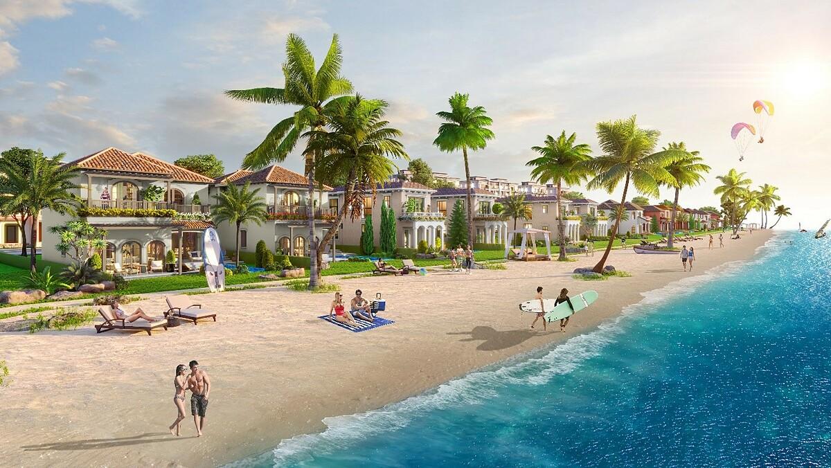 Biệt thự biển Habana Island - NovaWorld Ho Tram. Ảnh phối cảnh: Novaland.
