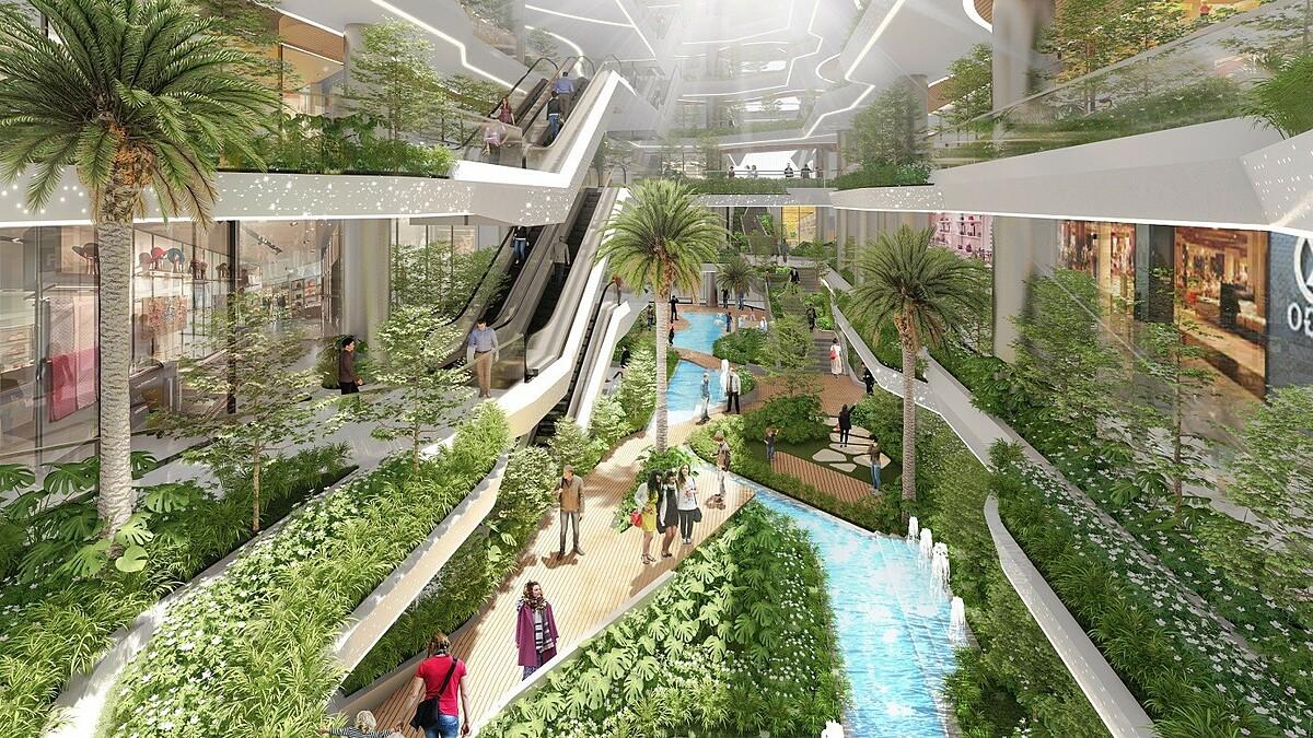 Không gian xanh tại King Crown Infinity lấy cảm hứng từ không gian xanh của Namba Park. Ảnh phối cảnh: BCG Land.