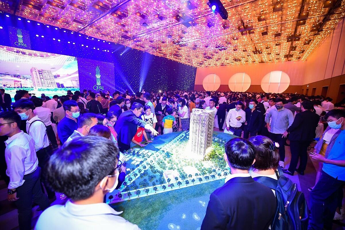 1.200 sản phẩm Opal Skyline đã được giao dịch trong ngày ra mắt dự án. Ảnh: Đất Xanh Services.