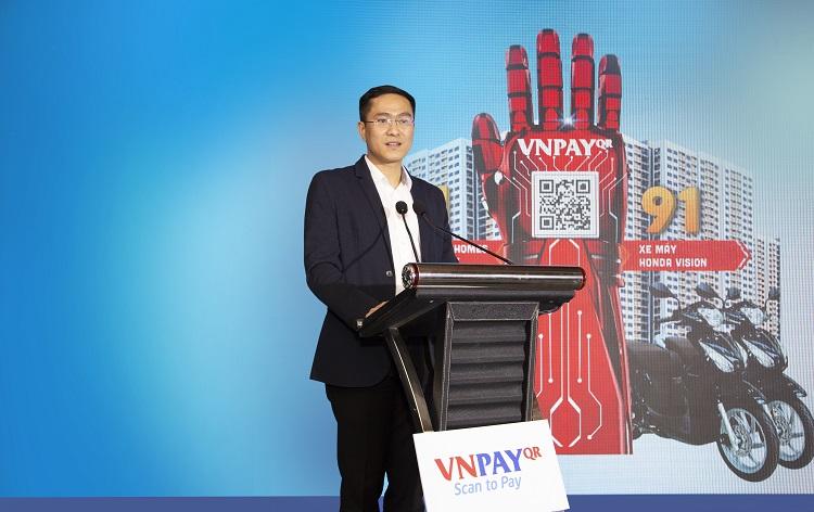 Ông Ngô Anh Tuấn, giám đốc VNPAY-QR phát biểu tại sự kiện.