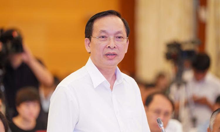 Ông Đào Minh Tú chia sẻ tại một hội nghị hồi tháng 6. Ảnh: VGP.