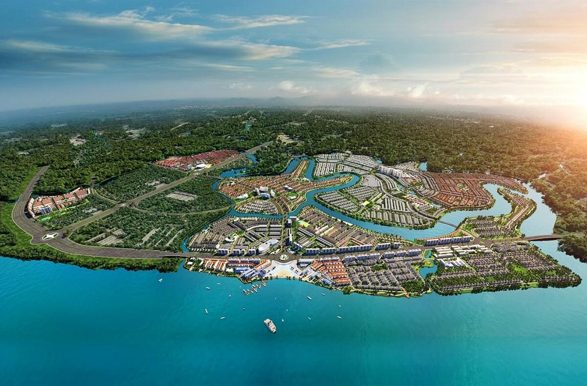 Những dự án bất động sản được quy hoạch bài bản, thuận tiện kết nối như khu đô thị sinh thái thông minh Aqua City phía Đông TP HCM sẽ tiếp tục là thỏi nam châm thu hút đầu tư và an cư. Ảnh phối cảnh: Novaland.