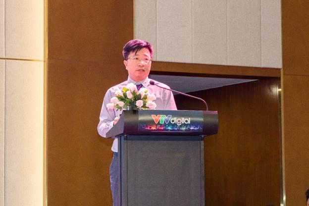 Ông Phạm Hoài Chung - Phó Viện trưởng - Viện Chiến lược và Phát triển Giao thông vận tải trình bày tham luận tại hội thảo.