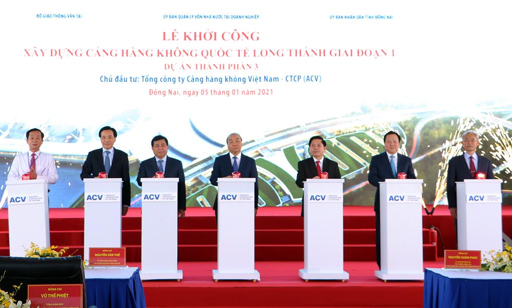 Sân bay Long Thành được chính thức phát lệnh khởi công sáng 5/1 . Ảnh: Phước Tuấn.