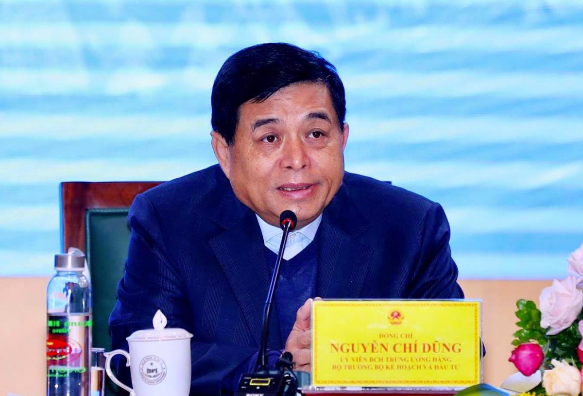 Bộ trưởng Kế hoạch và Đầu tư Nguyễn Chí Dũng tại hội nghị chiều 8/1. Ảnh: MPI.