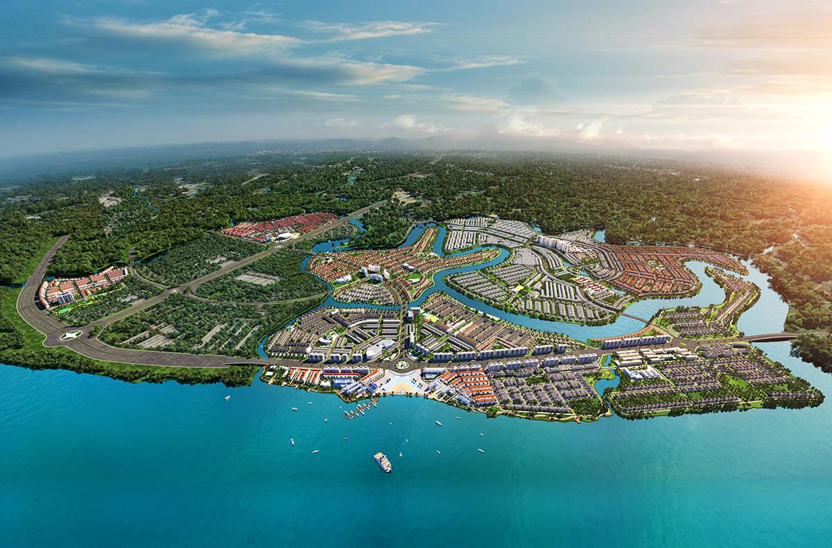 Phối cảnh khu đô thị sinh thái thông minh Aqua City quy mô 1.000ha phía Đông TP HCM