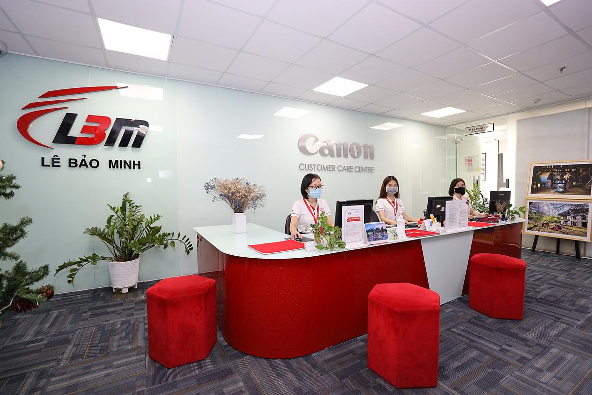 Trung tâm chăm sóc khách hàng Canon của Lê Bảo Minh. Ảnh: Lê Bảo Minh.