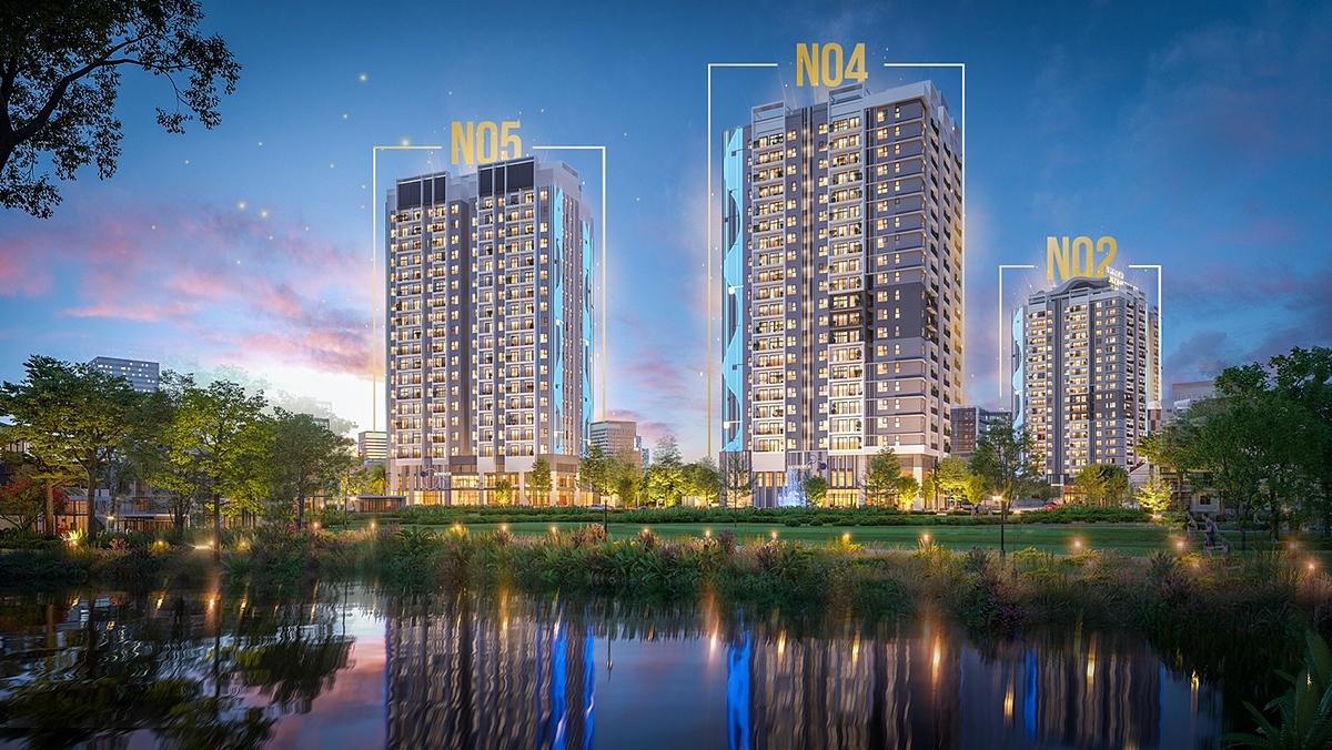 N04 – N05 là hai toà tháp cuối cùng mở bán tại dự án BerRiver Jardin.