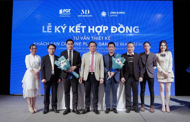 Đại diện CĐT PGT Group và Ong & Ong ký kết hợp tác chiến lược tư vấn thiết kế khối khách sạn tại sự kiện