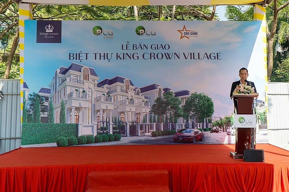 Đại diện chủ đầu tư ông Võ Mạnh Tín phát biểu tại buổi lễ.